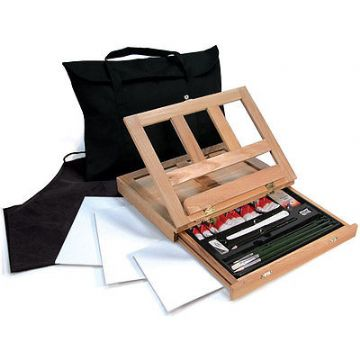 ARTISTS OIL COLOR EASEL ART SET WITH EASY TO STORE BAG BY ROYAL & LANGNICKEL